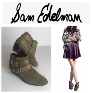Same Edleman Pippen Olive Green Ankle Boots Size:6